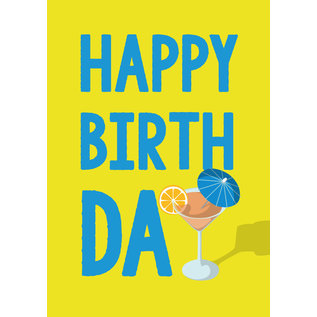 cc184 | crissXcross | Birthday Cocktail - Postkarte A6