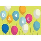 cc181 | crissXcross | Danke – Ballons - Postcard A6