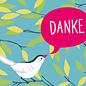 cc180 | crissXcross | Danke – Vogel – Postcard A6