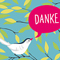cc180 | crissXcross | Danke – Vogel - Postkarte A6