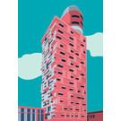 bv066 | bon voyage | Henninger Turm – Frankfurt/Main - Postkarte A6