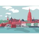 bv065 | bon voyage | Cathedral Panorama – Frankfurt/Main - postcard A6