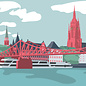 bv065 | bon voyage | Cathedral Panorama – Frankfurt/Main -Postkarte A6