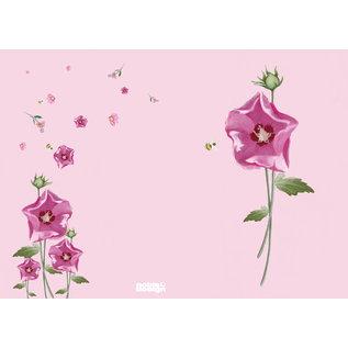 mi400 | m-illu | Malve  rosa - Notizheft A6