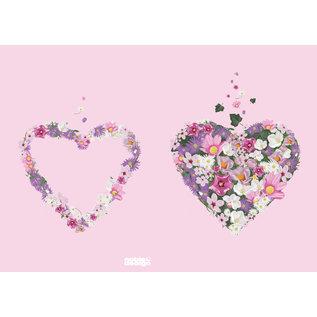 mi800 | m-illu | Flowerheart rose  - notebook  A5