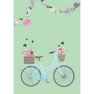 mi802 | m-illu | Flowerbike green - Notebook A5