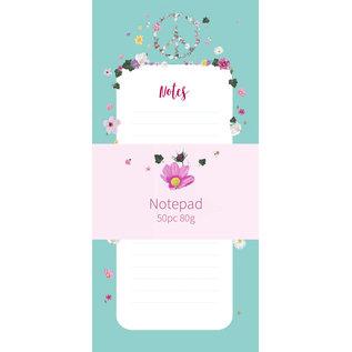 mi501 | m-illu | Peace blue - Notepad (9,7 x 21 cm)