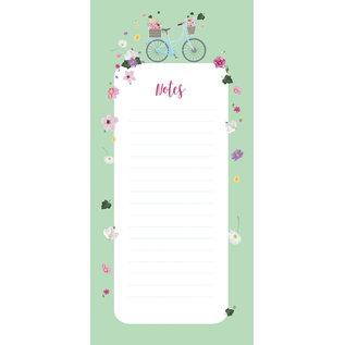 mi502 | m-illu | Bicykle green - Notepad  (9,7 x 21 cm)