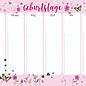 mi900 | m-illu | Blüten rosa - Geburtstagskalender A4