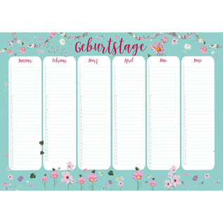 mi901 | m-illu | Peace blue - Birthday Calendar A4