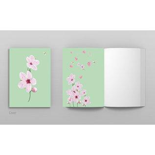 mi402 | m-illu | Cherry  green - notebook  A6