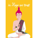 lc002 | lucky cards | in hope we trust  - postcard