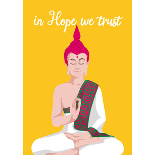lc002 | lucky cards | in hope we trust - Postkarte