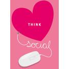 lucky cards lc003 | lucky cards |  think social  - postcard