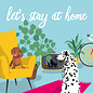 lucky cards lc005 | lucky cards | let's stay at home - Postkarte