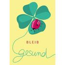 lc008 | lucky cards |  Bleib gesund -  postcard