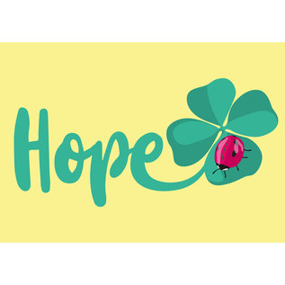 lc010 | lucky cards |  Hope -  postcard