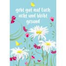 lc011 | lucky cards |  bleibt gesund -  postcard