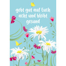 lc011 | lucky cards | bleibt gesund - Postkarte