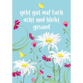 lucky cards lc011 | lucky cards |  bleibt gesund -  postcard