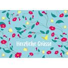 lc012 | lucky cards | Herzliche Grüsse - Postkarte