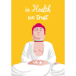 lc001   lucky cards   in health we trust - Postkarte