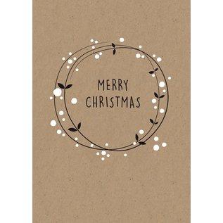 dfx001 | Designfräulein | Merry Christmas - postcard A6 - Copy