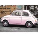 b070 | brocante | Fiat 500 - postcard A6