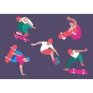 lu093 | luminous | Skater - postcard A6