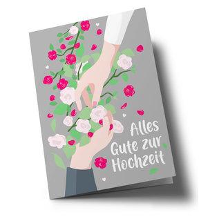 lucky cards lc501   lucky cards   Alles Gute zur Hochzeit - folding card A5