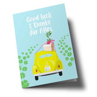 lc502 | lucky cards | Good Luck - folding card A5