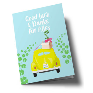 lucky cards lc502 | lucky cards | Good Luck - folding card A5