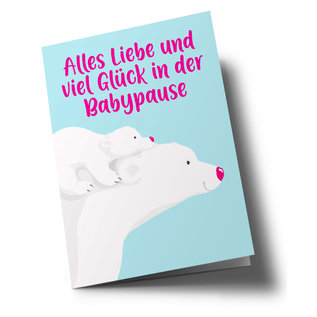 lucky cards lc504 | lucky cards | Viel Glück in der Babypause- Klappkarte A5