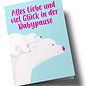 lc504   lucky cards   Viel Glück in der Babypause- folding card A5