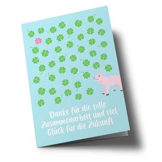 lc503   lucky cards   Viel Glück - folding card A5
