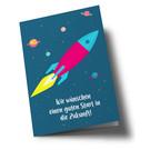 lucky cards lc505 | lucky cards | Zukunftsrakete - folding card A5