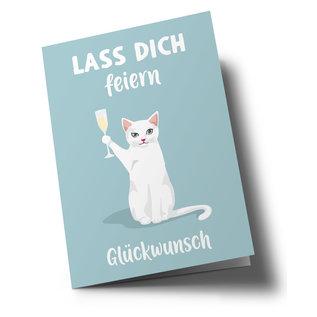 lc509   lucky cards   Lass Dich feiern - Klappkarte A5