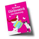 lucky cards lc508 | lucky cards | Glückwunsch zum Geburtstag - folding card A5