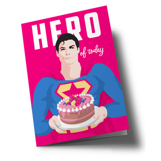 lucky cards lc500  lucky cards   Hero of the Day- folding card A5