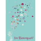 mi019 | m-illu | Blumengruß - Postkarte A6