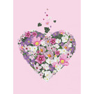mi021 | m-illu | Heart of Flowers - pink - postcard A6