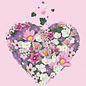 mi021 | m-illu | Heart of Flowers - pink - postcard A6