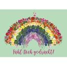 mi028 | m-illu | Rainbow-  postcard A6