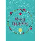 mix203 | m-illu | Kranz - Merry Christmas - Postkarte A6