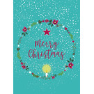 mix203 | m-illu | Wreath- Merry Christmas - postcard A6
