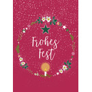 mix205| m-illu | Wreath - Frohes Fest - postcard A6