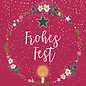 mix205| m-illu | Wreath - Frohes Fest - postcard A6
