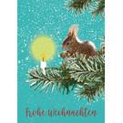 mix208 | m-illu | Eichhörnchen - Frohe Weihnachten - Postkarte A6