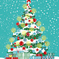 mix215 | m-illu | Christmas Tree - postcard A6