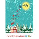 mix216 | m-illu | Weihnachtsmann im Wald - Postkarte A6